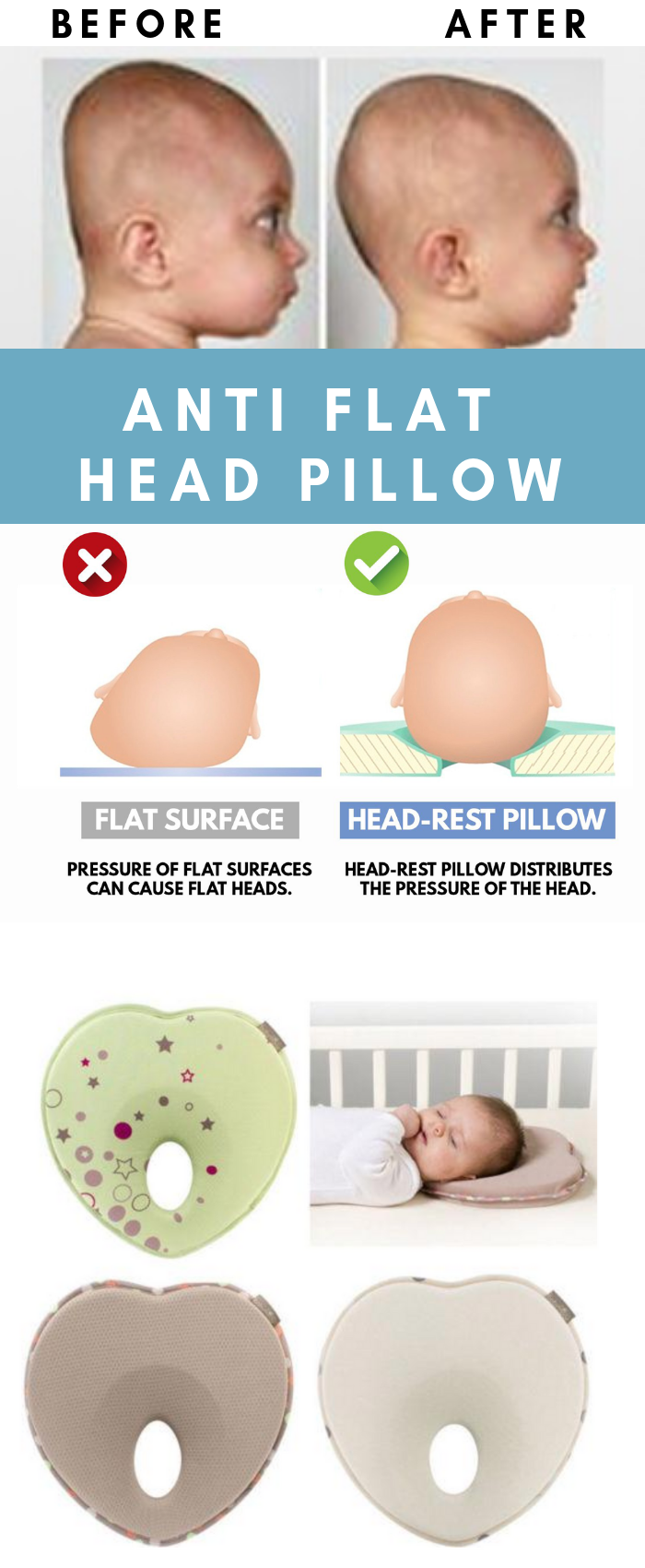 Anti Flat Head Pillow New Baby Products Anti Baby Flat Newbabyproducts Pillow Products In 2020 Flat Head Pillow New Baby Products Head Pillow