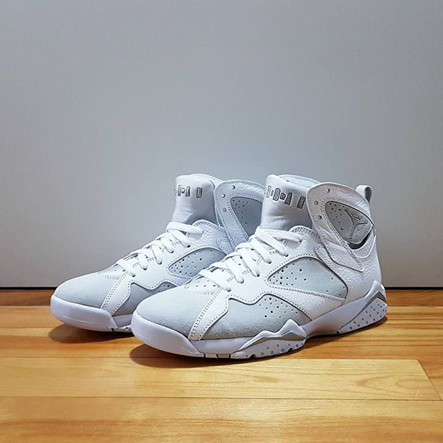 9502e8a17c38 Go check out my Air Jordan 7 Retro Pure Money on feet channel link in bio.