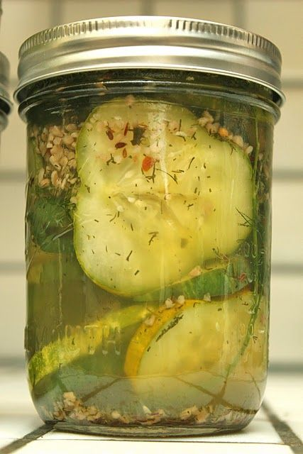 Homemade spicy pickles @Lisa Stonis