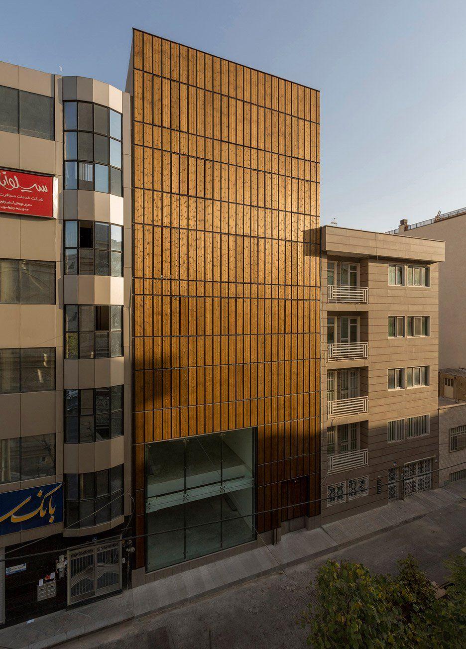 office facades. Completes Tehran Office Block With Louvred Wooden Facades (Dezeen