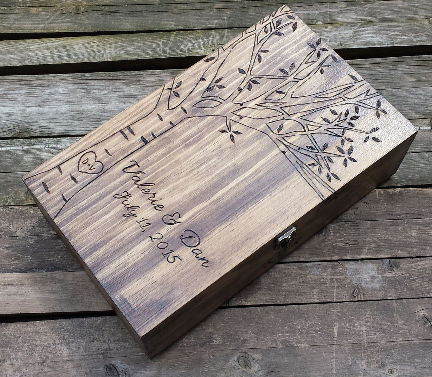 Wine Box Birch Tree Wedding Wine Box Double Wine Box First Fight