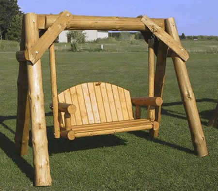 log swing great outdoors pinterest swings logs and wood