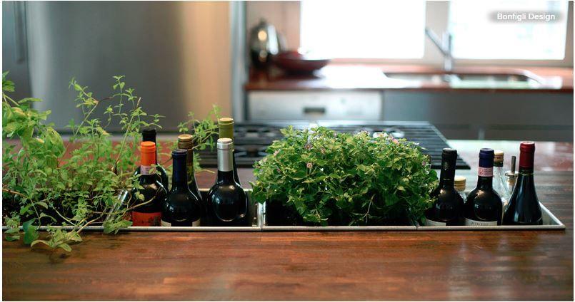 indoor kr utergarten arbeitsplatte kr uter haus k che pinterest k che k che bauen und. Black Bedroom Furniture Sets. Home Design Ideas
