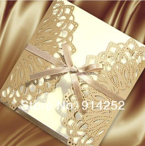 Personized Laser Cut Wedding Invitations Card Ea049 In Crafts From Home Garden On Aliexpress