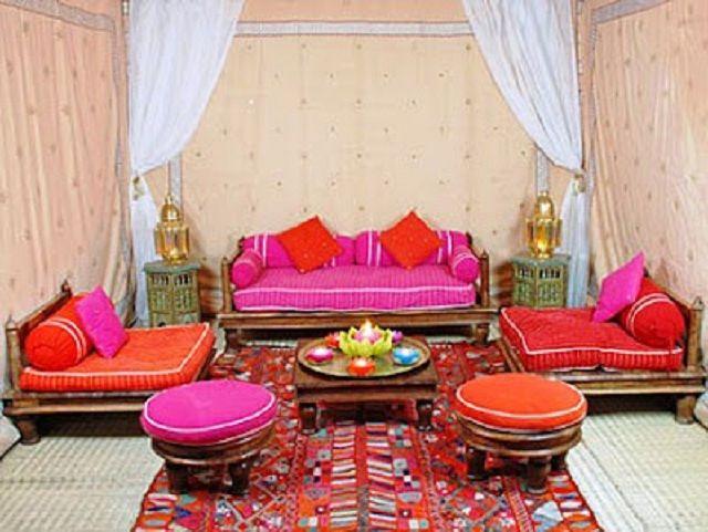 moroccan patio pink and orange colors patio ideas pinterest