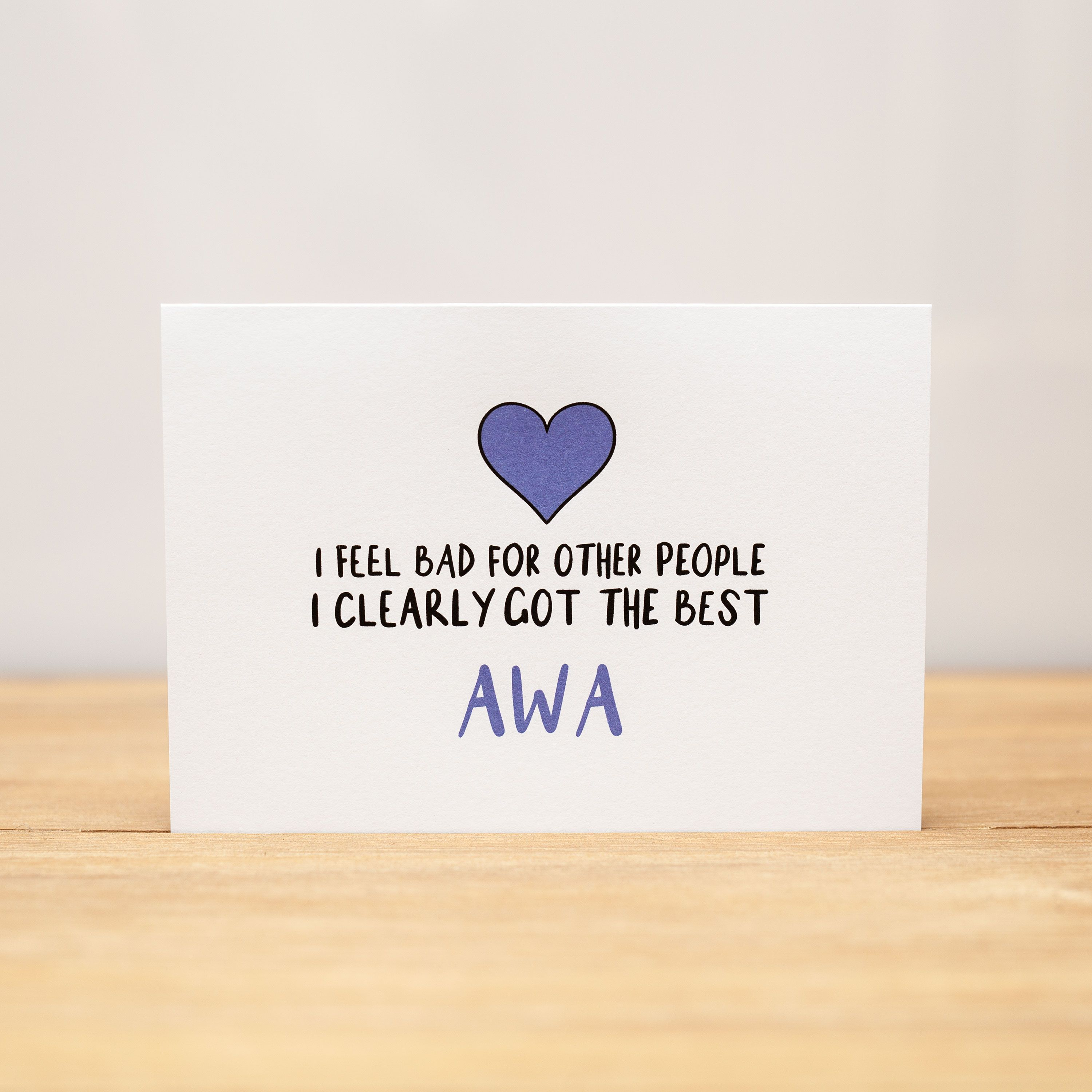 Greeting card I feel bad for other people (mother's day