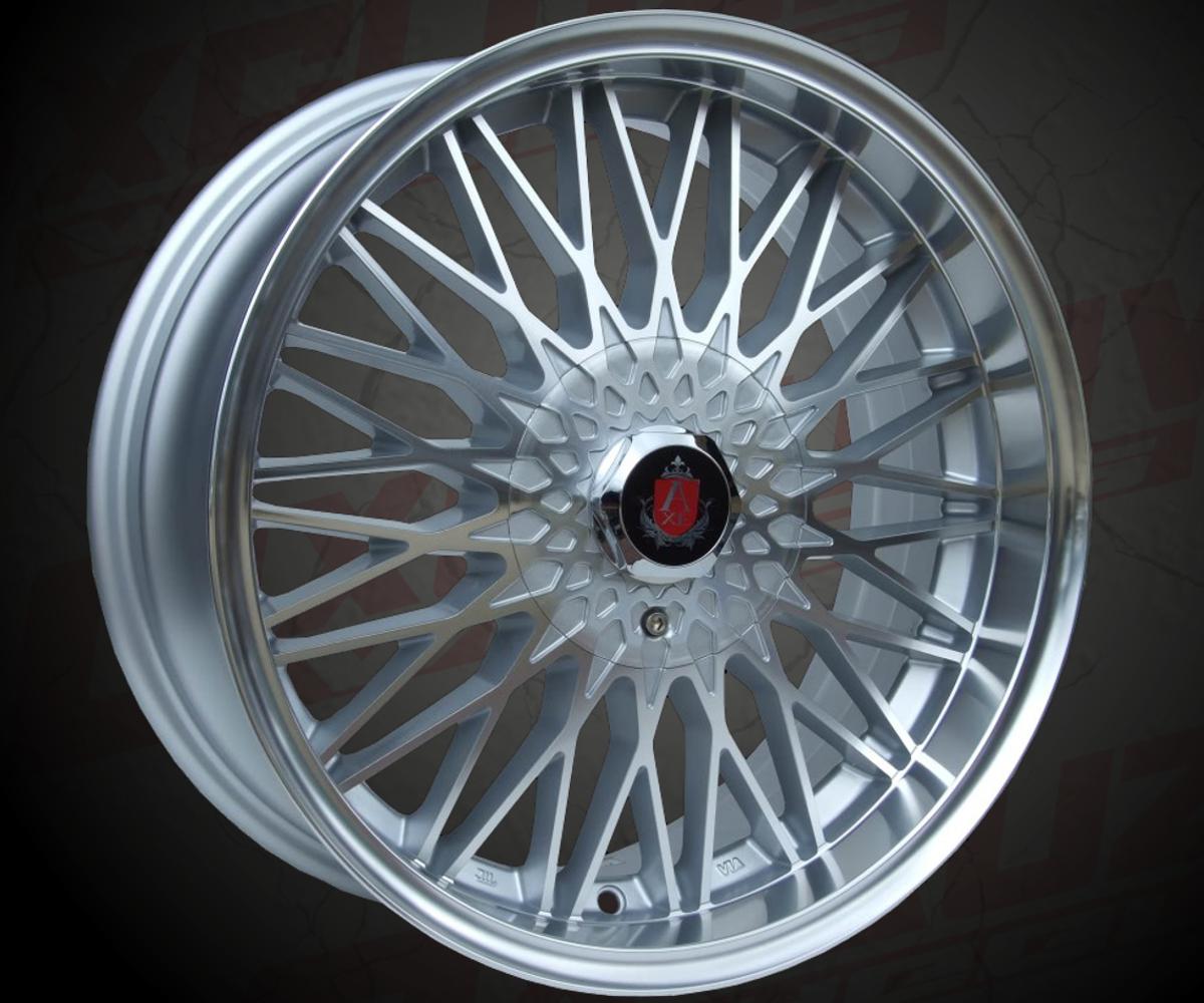 """Modèle : EX3 / Style Rétro / Tailles : 17x7.5"""" / Entraxes : 4x98, 4x100, 4x108, 4x114.3, 5x100, 5x108, 5x110, 5x112, 5x114.3, 5x120 / Déport : 25 ou 35 / Finition : Silver + poli. / Compatible pour : Audi, VW, BMW, Fiat, Ford, Renault, Peugeot, Citroën ..."""