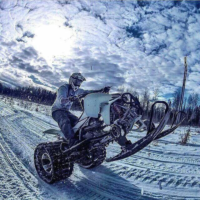 A Whole New Way To Pop A Wheelie Snow Fun Winter Fun Riding