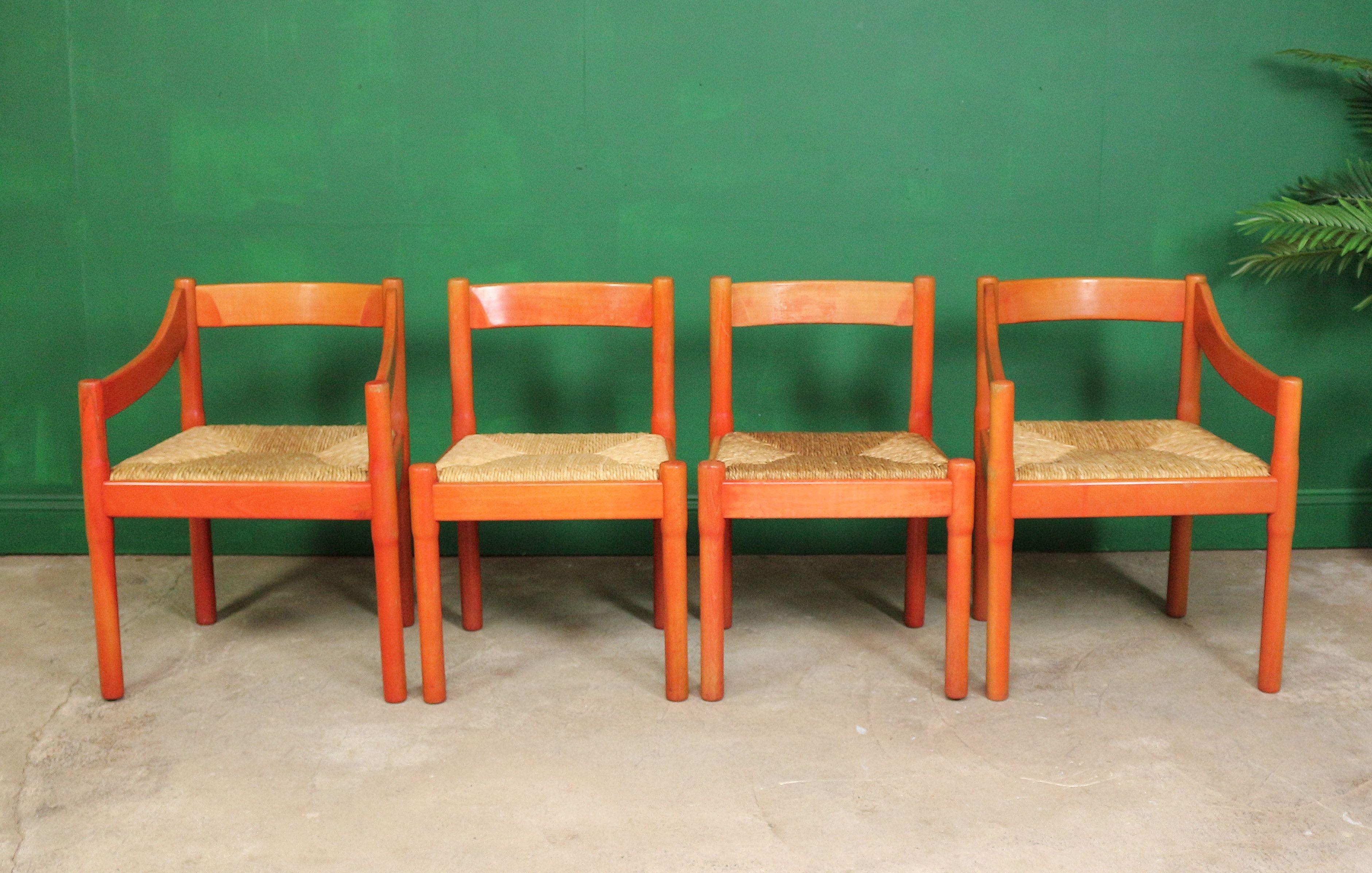 4 Vico Magistretti Dining Chairs Kitchen Habitat Red Carimat