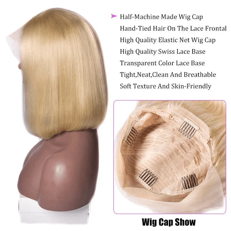 Product Features Brand Name Sofeel Hair Texture Straight Material 100 Human Hair Hair Color 613 Lace Wig Type B In 2020 Human Hair Blonde Lace Front Wigs Wigs