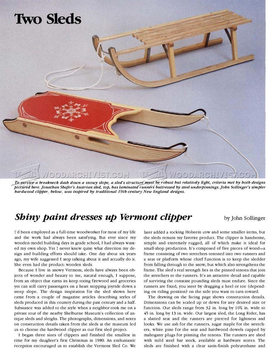 diy wooden sleigh - children's outdoor plans | woodworking