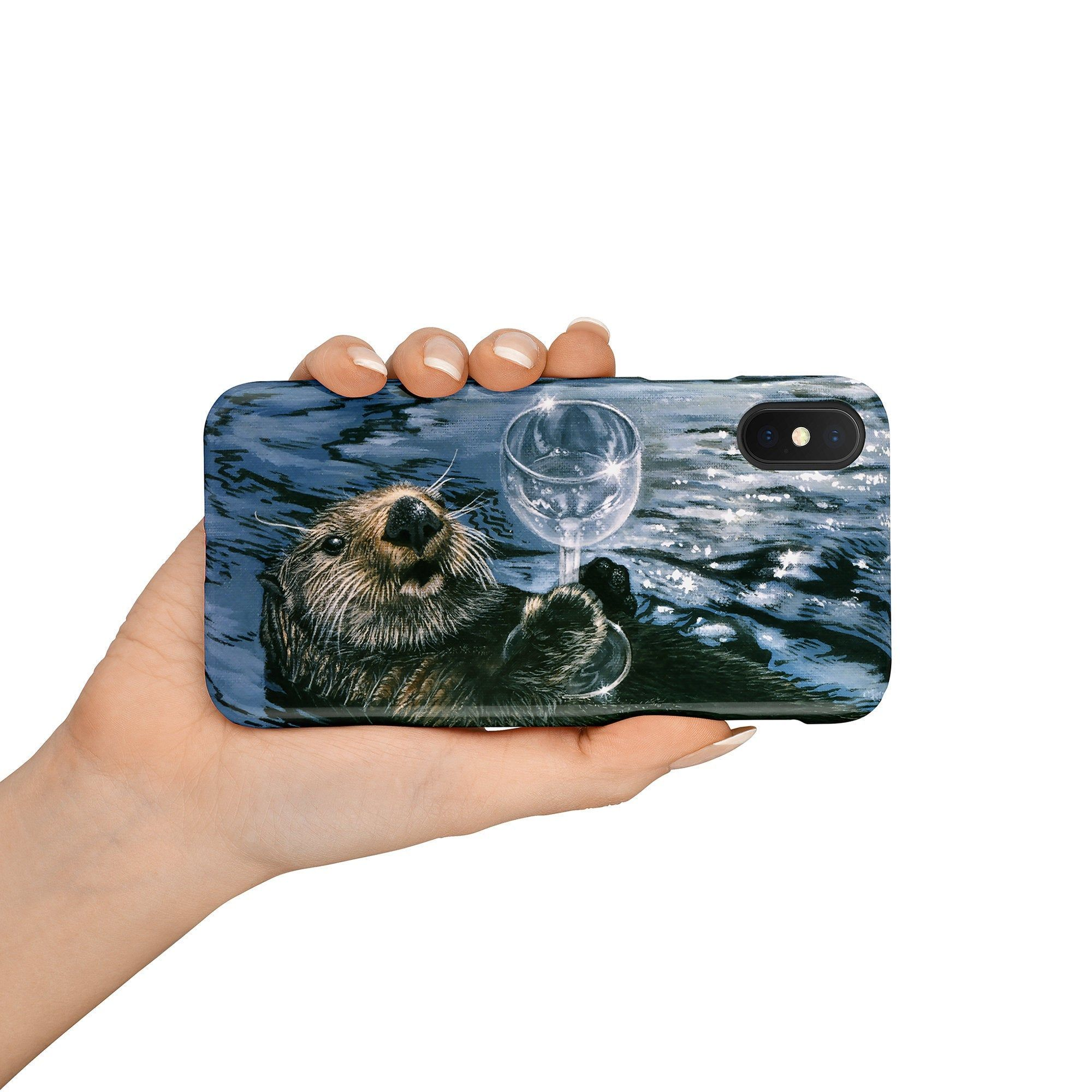 Otter Phone Cases, Cute Otter, Sea Otter, iPhone Cases, Samsung Phone Cases, Premium Glossy Tough Phone Case, Otter Lover Gift, Ocean Lover