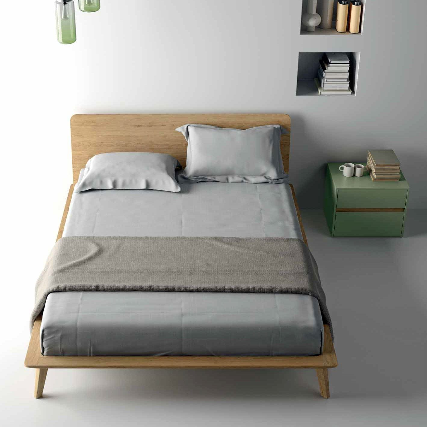 Dall Agnese Camere Da Letto.Double Bed Contemporary Oak With Headboard Easy Dall Agnese