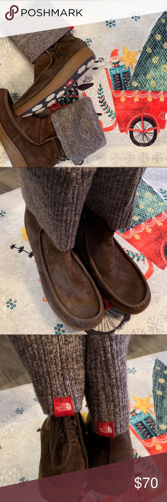 The North Face Sweater Cuff Suede Boots