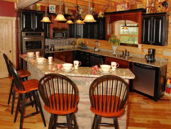 Cozy Kitchen Oak Haven Resort And Spa Sevierville Tn Cozy