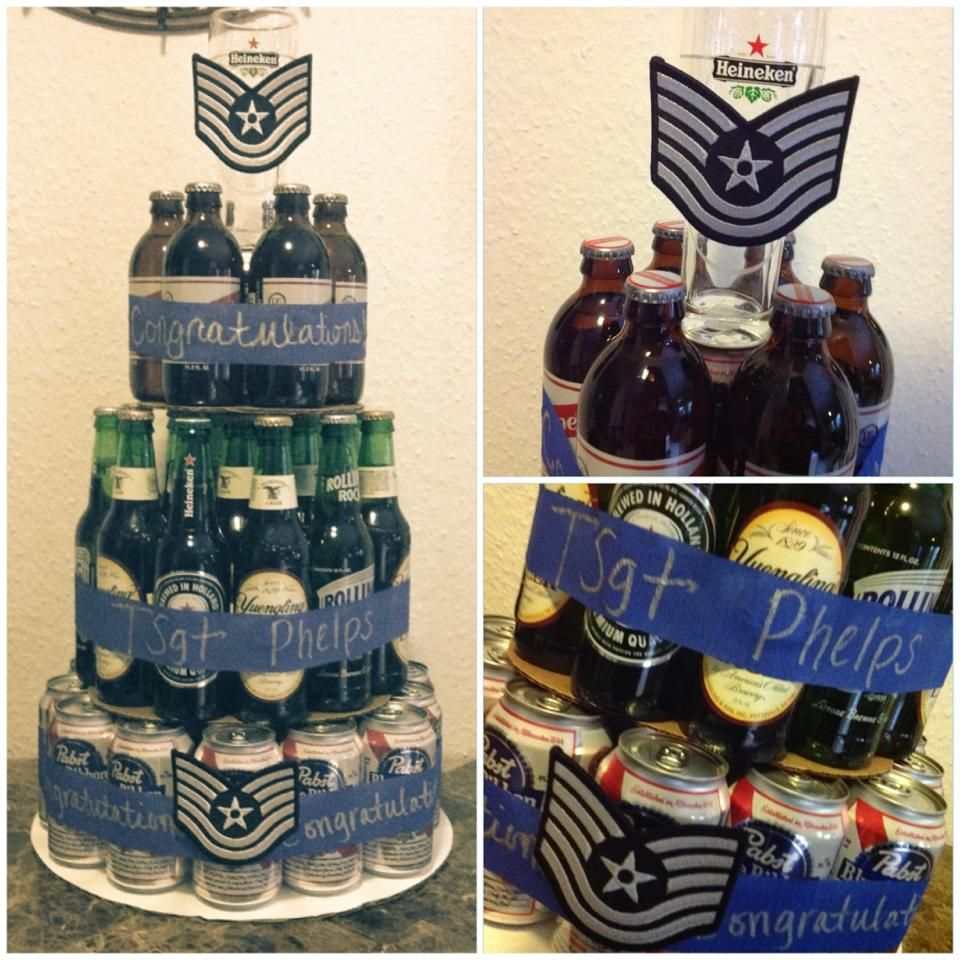 Beer cake for air force promotion for my love for Air force decoration