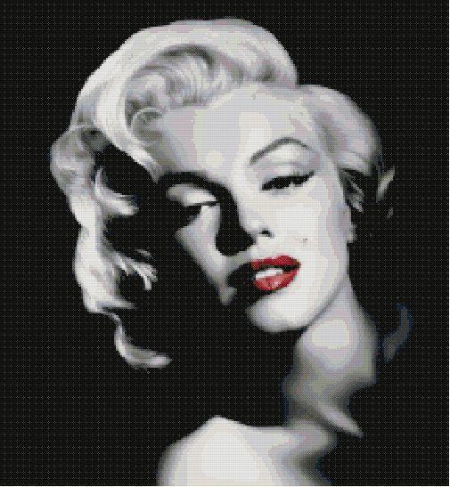 Marilyn Monroe Cross Stitch Pattern-People Celebri