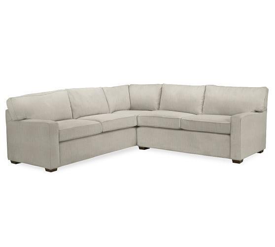 Popular PB Square Upholstered 2 Piece L Shaped Sectional For Your House - New square sectional sofa Amazing