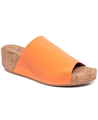 Dkny Shoes Alma Slide Cork Wedge Sandals Shoes Macy S