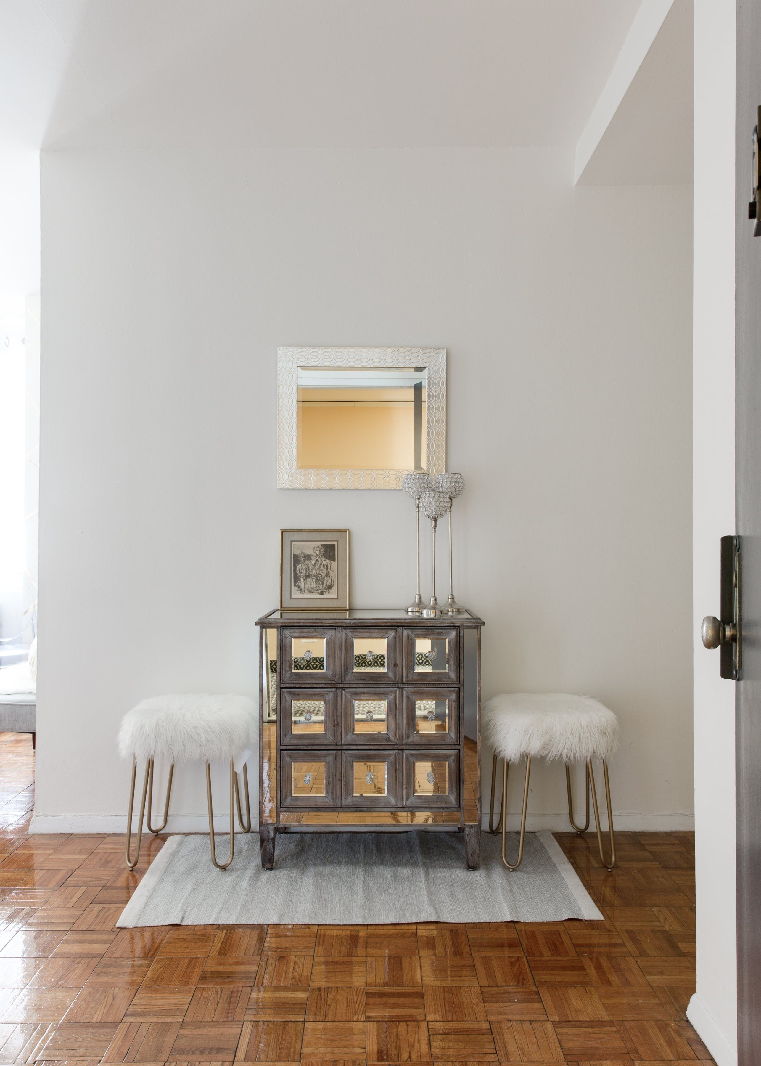 """A One-Bedroom Becomes Two in a """"Traditional Glam ..."""