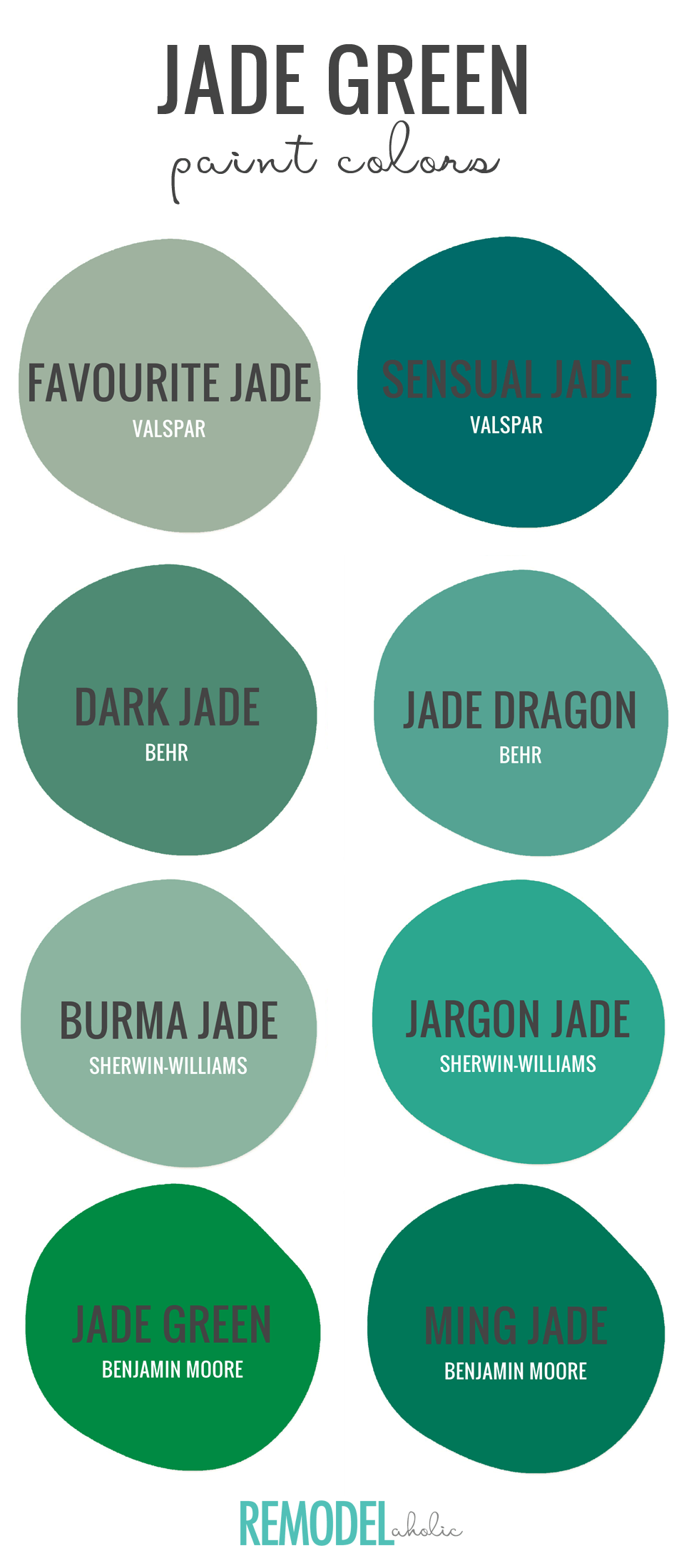 Jade Green Is One Of 2018 S Hottest Colors According To Hgtv Find The Perfect Variation This Moody Hue With Our Top Paint