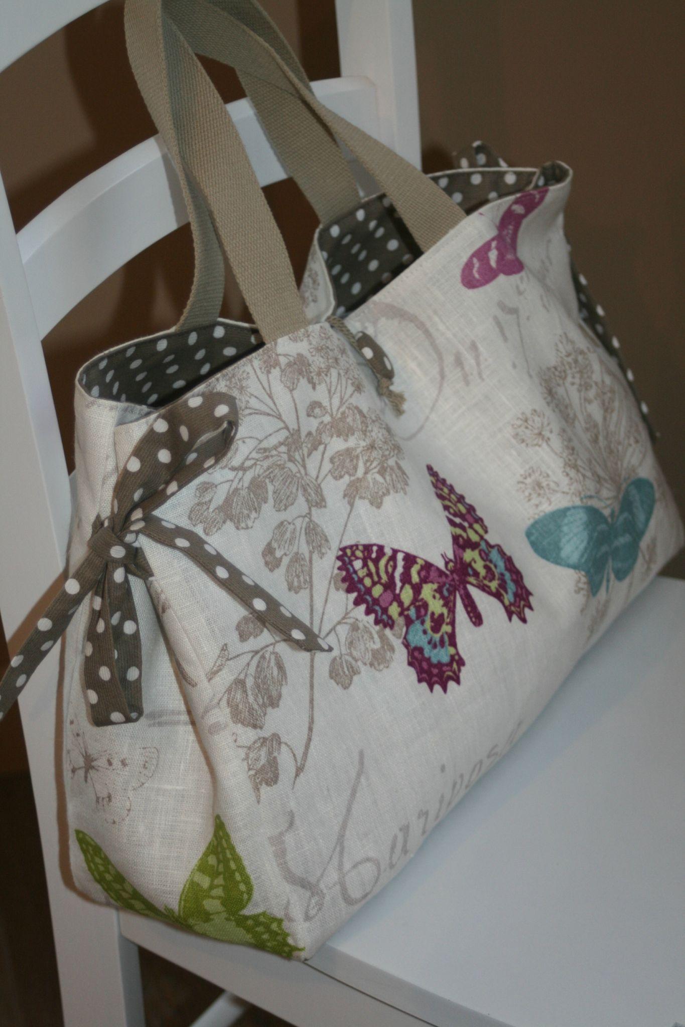 c8c0b25033 Pour cette nouvelle commande, une seule consigne : un sac pour y ranger un  tricot en cours J'ai choisi de faire un sac tout en longueur,.