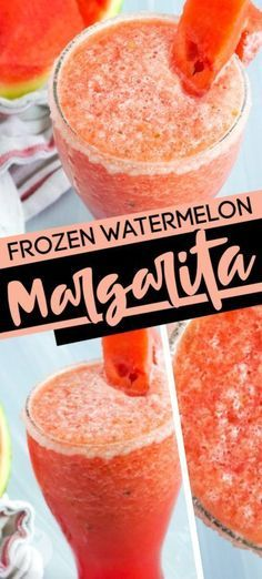 This is the Worlds Best Frozen Watermelon Margarita! This homemade frozen margarita is fun tasty and totally the perfect drink for summer poolside fun! This is the best frozen margarita mix. Try making this easy cocktail recipe! #watermelonmargarita #frozenmargarita #frozenmargaritarecipes