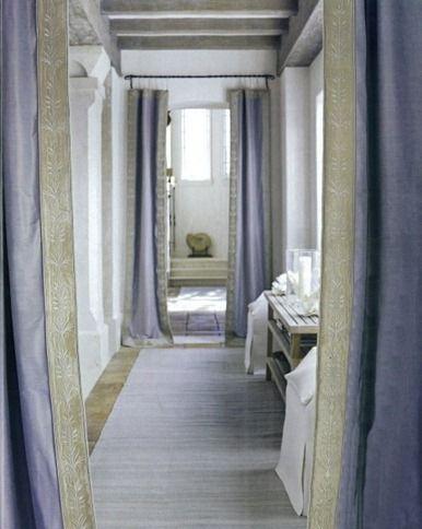 Lovely Hallway Window Curtains