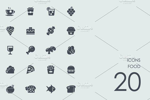 food icons by palau on creativemarket