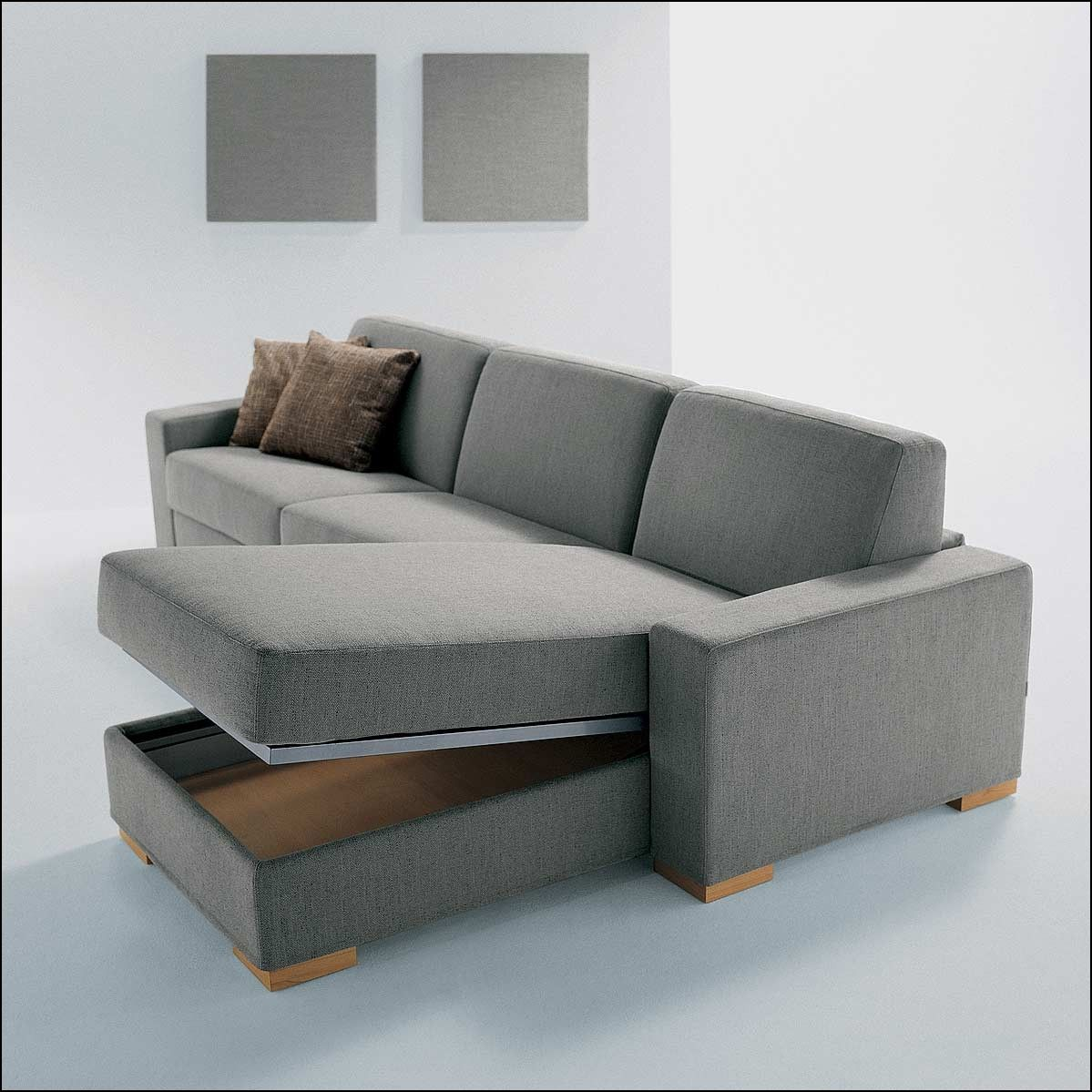 L Shaped Couch With Storage Sofa Bed