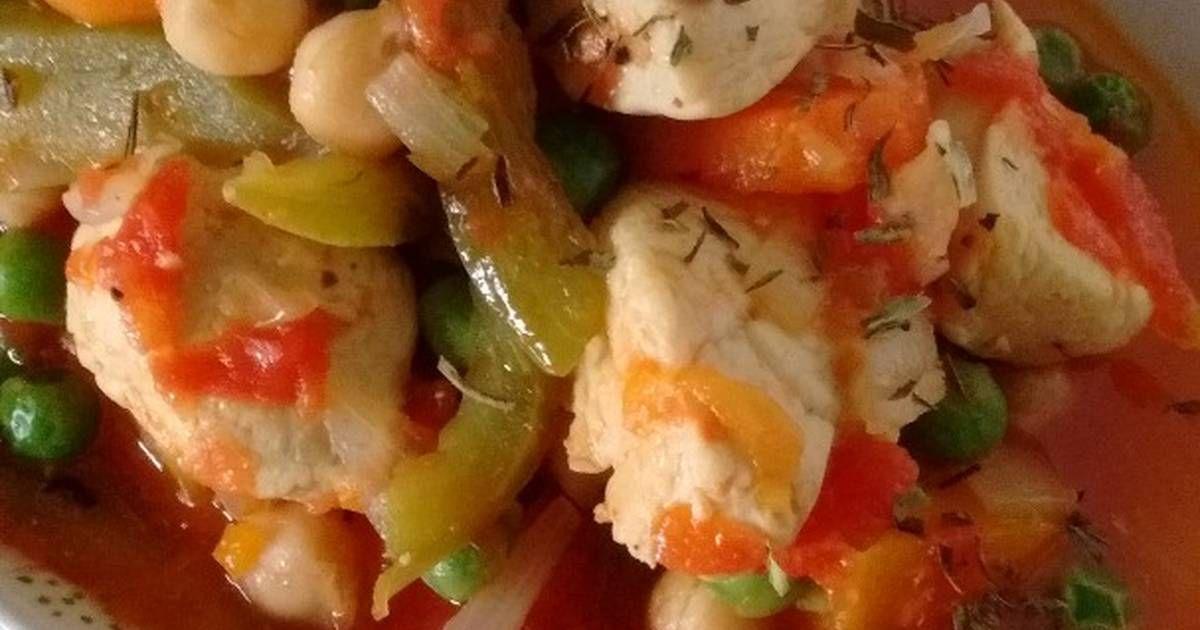 Fabulosa receta para Cazuela de pollo con verduras. Sin harinas ni arroz. Libre de tac