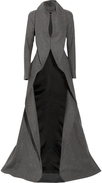 ALEXANDER MCQUEEN ENGLAND Draping Wool and Cashmere-blend Coat