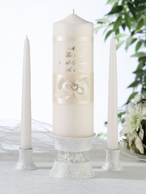 Personalized candles for unity ceremony Wedding candle  centerpieces for tables Pillar and Taper set