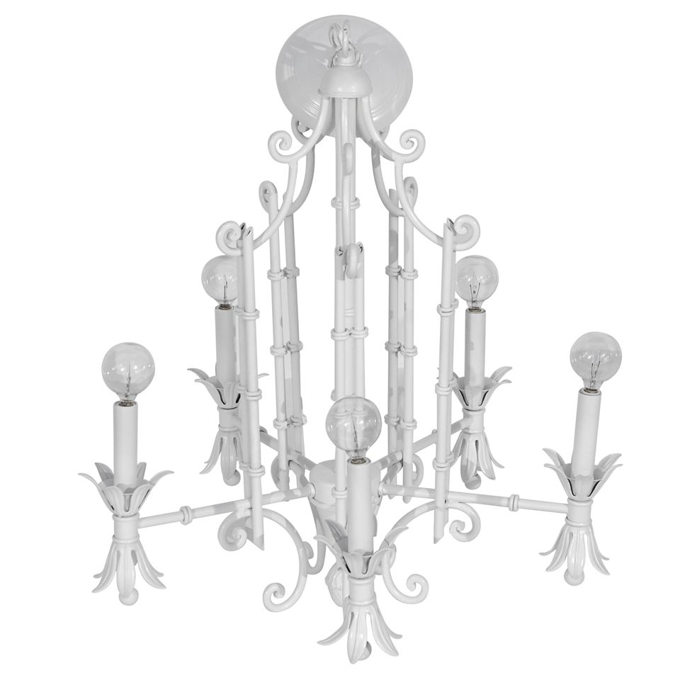 Faux bamboo pagoda chandelier faux bamboo chandeliers and chinoiserie faux bamboo pagoda chandelier arubaitofo Images
