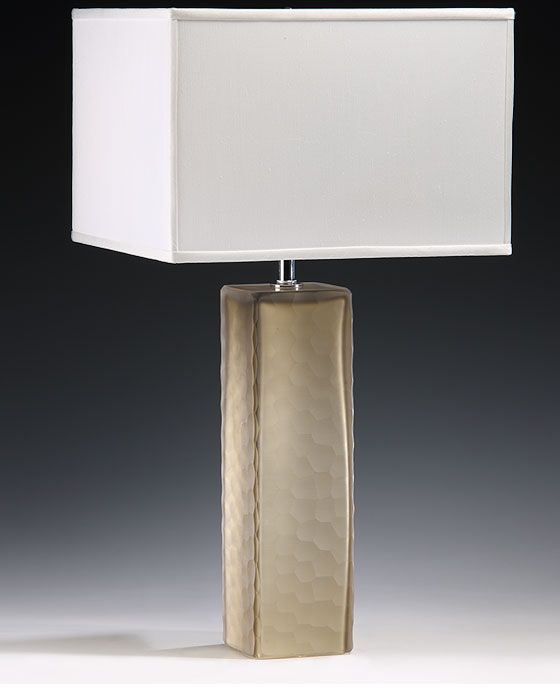 Venetian lamp made of Murano glass lamps | Venetian glass lamp with textured Murano glass design; modern table lamp