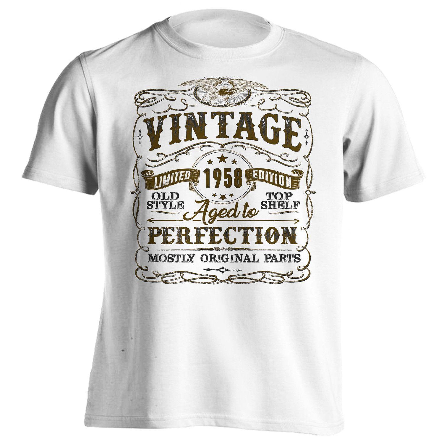 59th Birthday Shirt Vintage Mostly Original Parts