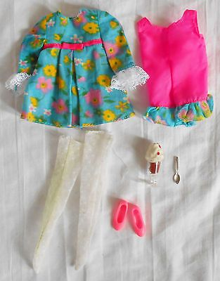 Vintage 1960's Barbie Skipper Posie Party #1955 Outfit Complete