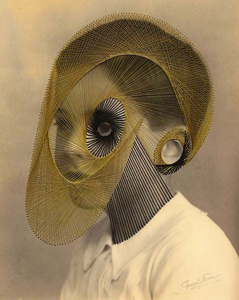 Maurizio Anzeri's embroidered photo-sculptures / Anzeri, an Italian based visual artist, is the creator of some extremely impressive imagery using vintage photographs that he embroiders creating something he calls 'photo-sculptures'. The result of this rather bizarre mix of techniques is an unearthly visual impact.