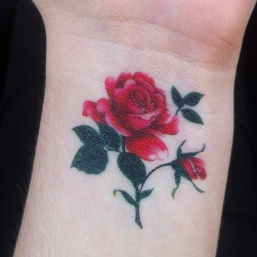 15 No Line Flower Tattoos You Must Love Pretty Designs Rose Tattoos On Wrist Tattoos Trendy Tattoos