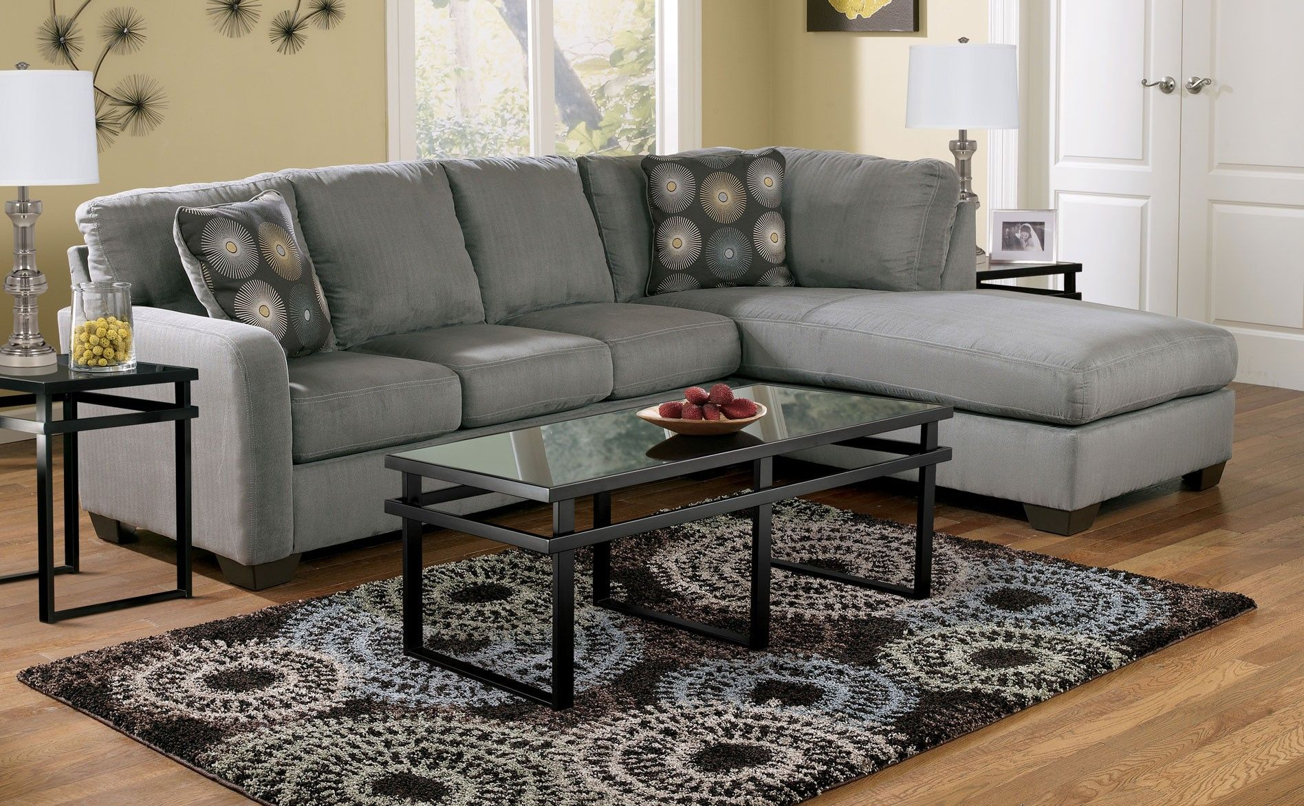 Signature Zella Sectional Charcoal Sectionals