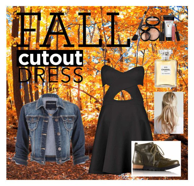 """The Leaves are Falling Down"" by gummybear03 ❤ liked on Polyvore featuring Boohoo, SOREL, maurices, Laura Geller and Chanel"