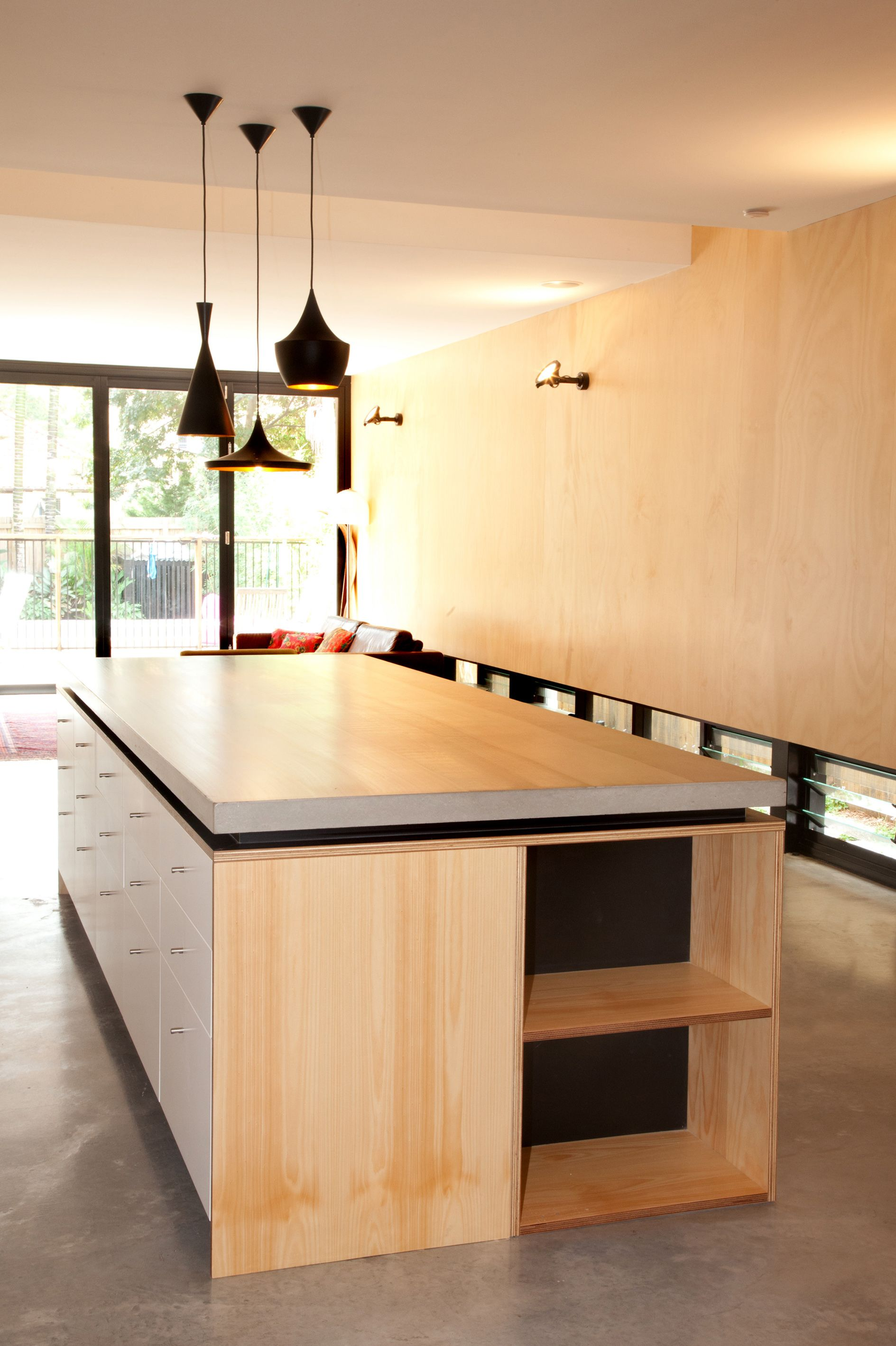 Beautiful Concreate Concrete Benchtop Perfect With Ply Kitchen Island Benchtop Plywood Kitchen Diy Kitchen Island Kitchen Island Bench