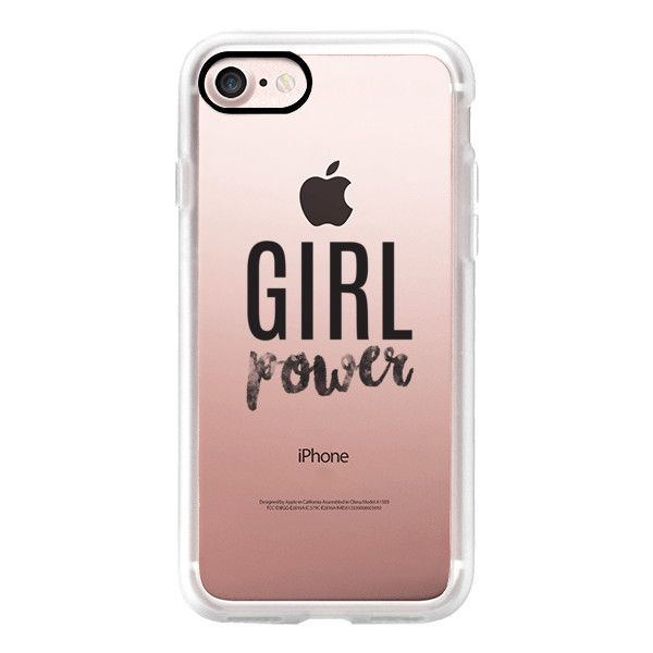 Girl Power Transparent Iphone 7 Case Iphone 7 Plus Case Iphone 7 40 Liked On Polyvore Featuring A Iphone Hard Case Iphone Transparent Case Iphone
