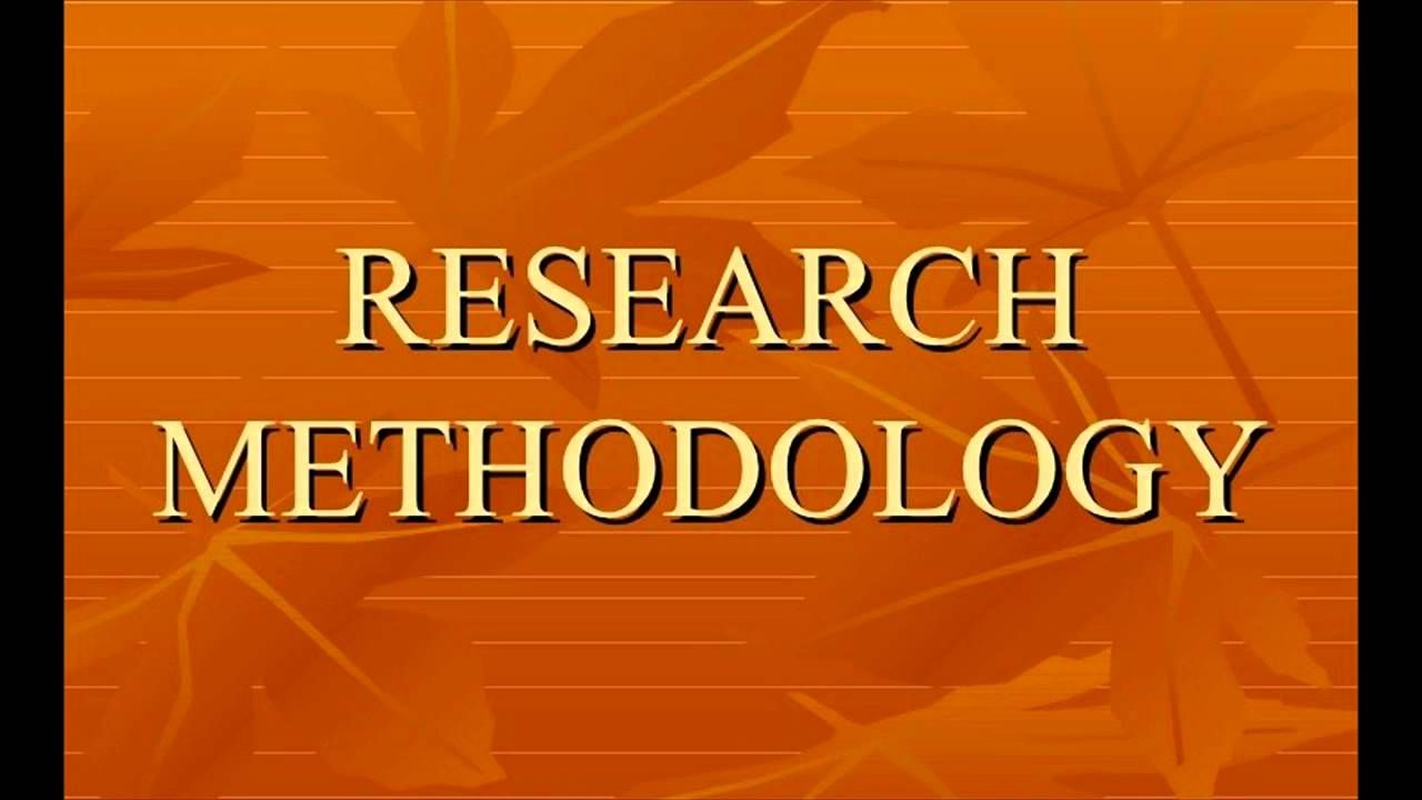 Methods in research paper