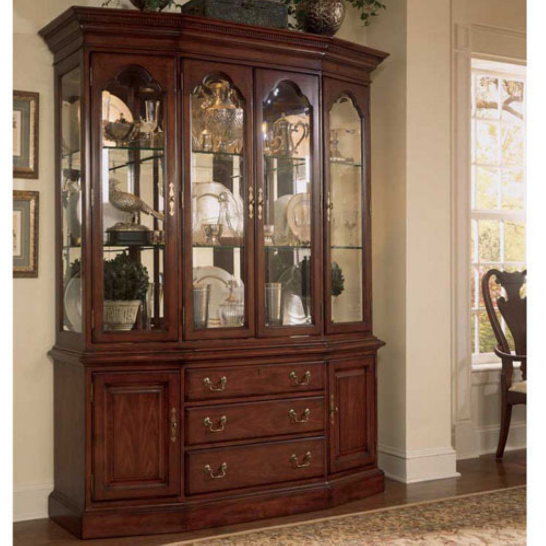 American Drew Cherry Grove Canted China Cabinet ADL1021