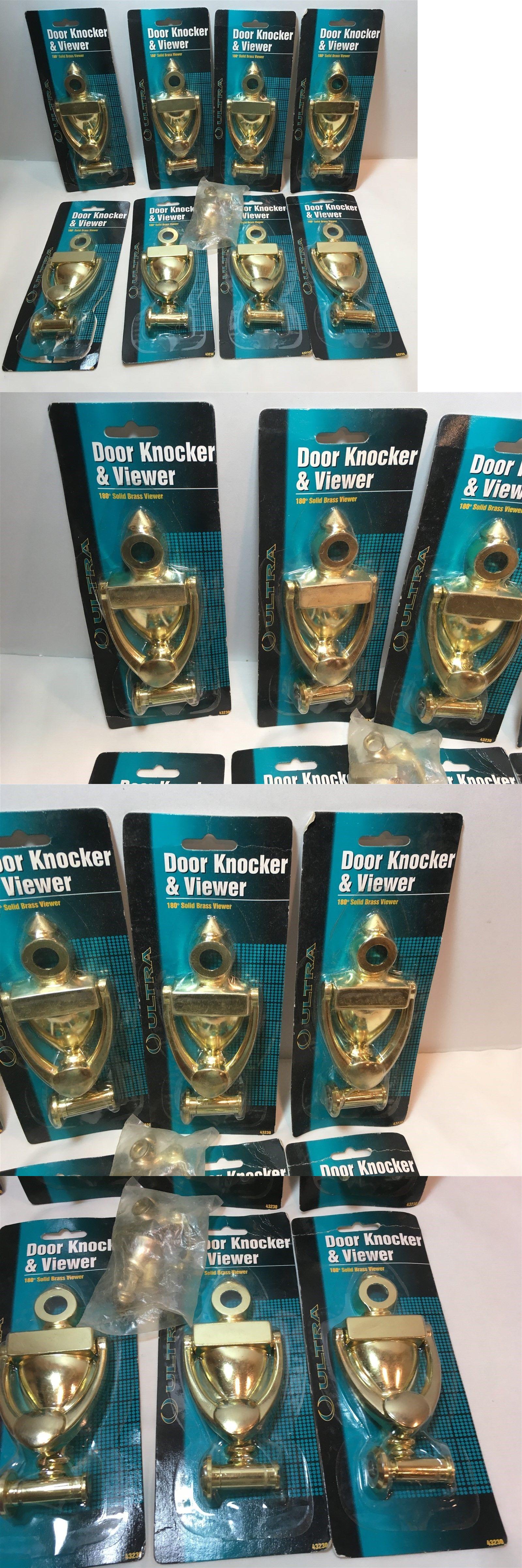 Door knockers degree solid brass viewer and door knocker