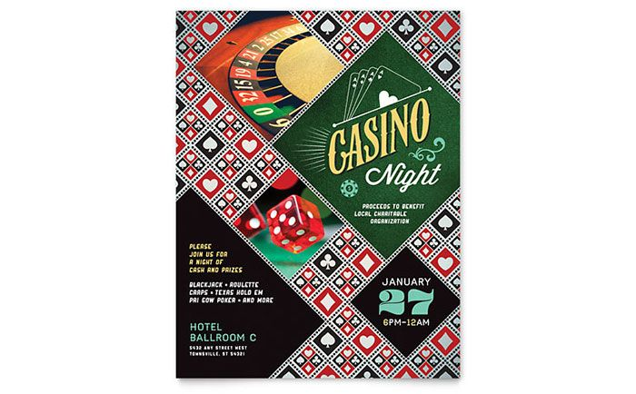 Casino Night Flyer Template Design by StockLayouts Casino Theme - free blank flyer templates