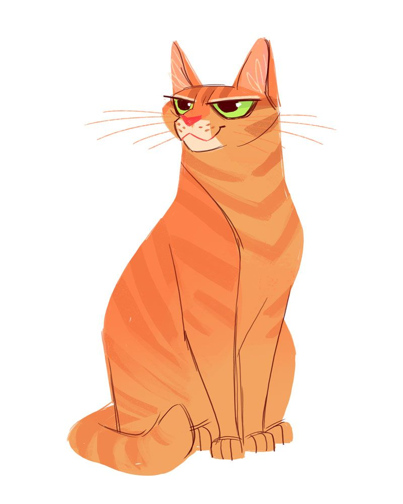 Daily Cat Drawings — 636: Orange Tabby | Drawing and ... Tabby Cat Cartoon Drawing