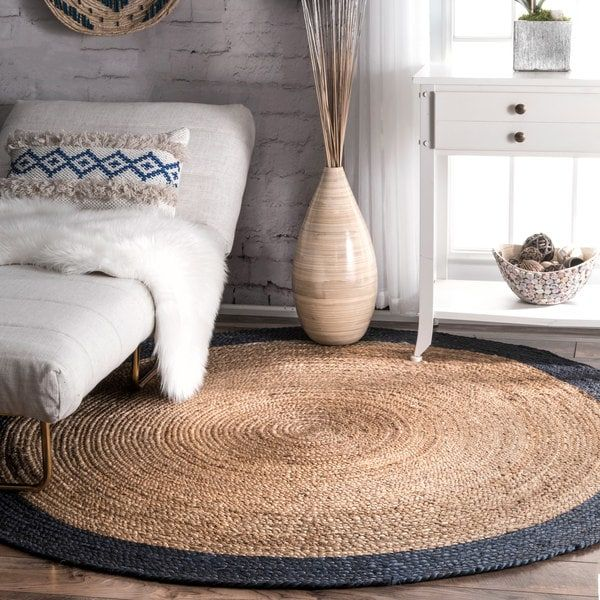 The Gray Barn Cinch Buckle Braided Reversible Border Jute Area Rug