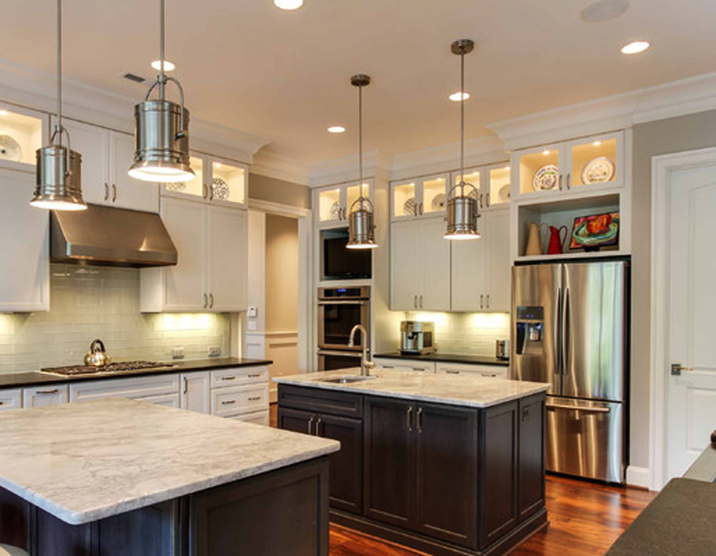 Ideas u inspirations transitional kitchen walnut wooden laminate